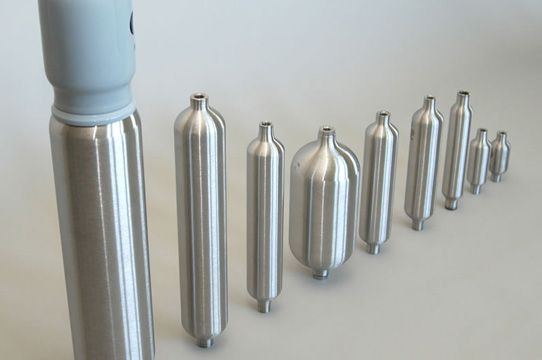 Luxfer sampling cylinders