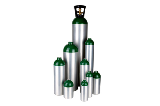 L6X aluminum medical cylinders