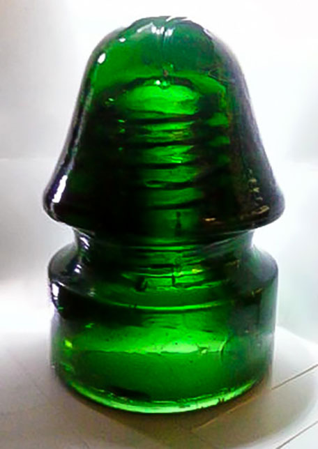 emerald green glass insulator