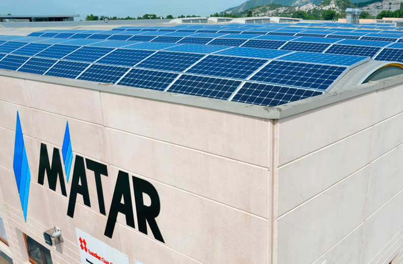 Solar panels provide clean energy for the new Luxfer Italy facility that builds alternative fuel systems