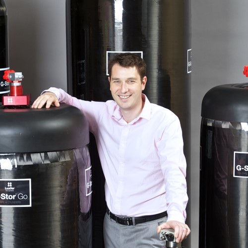 Mark Lawday alongside Luxfers Industry leading range of G-Stor Pro (Type-3) and G-Stor Go (Type-4)